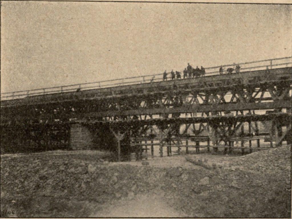 Budowa mostu na Nerze