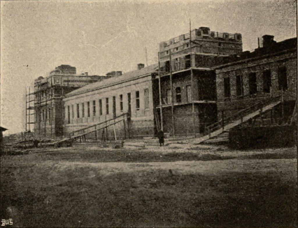 Budowa dworca w Łodzi