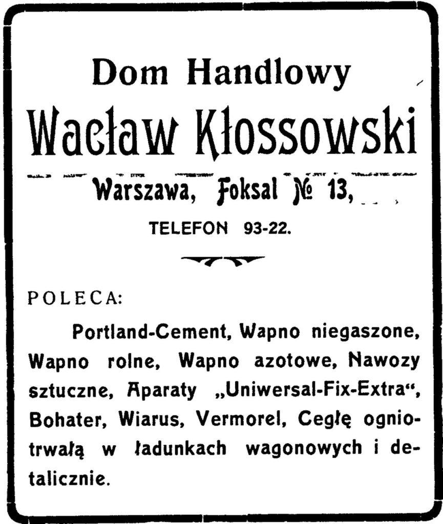 Dom Handlowy Wacław Kłossowski