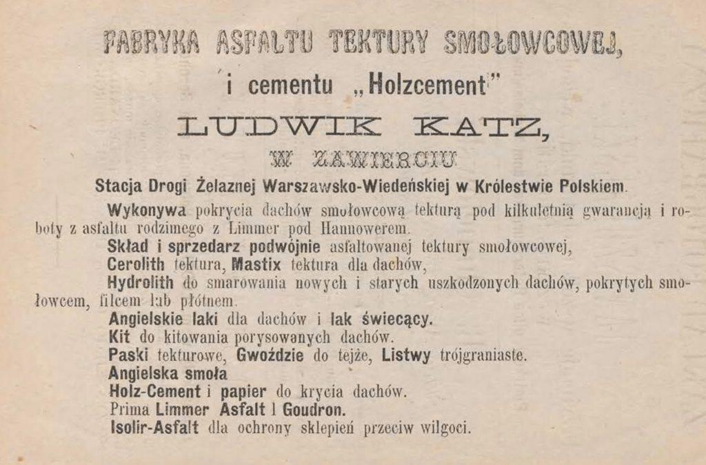 Fabryka Asfaltu tektury Holzcement