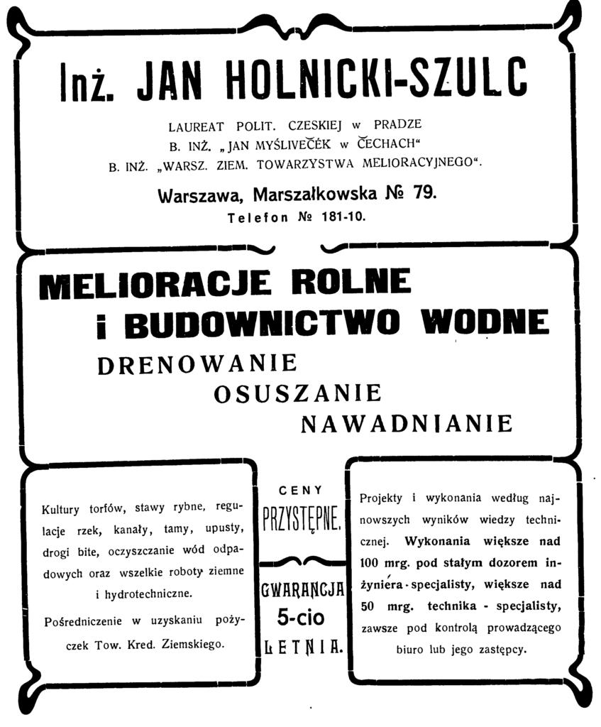 Melioracje rolne Jan Holnicki Szulc
