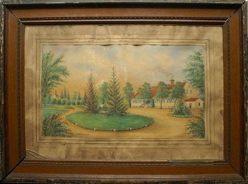 Obraz przedstawiający dwór w Skęczniewie