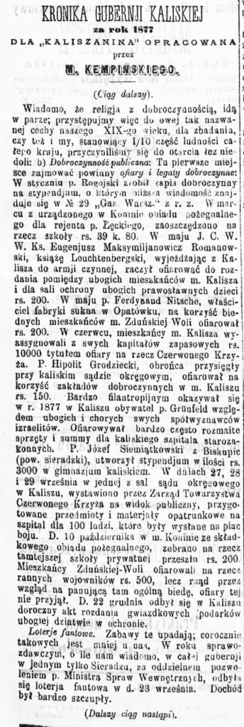 M. Kempiński Kaliszanin
