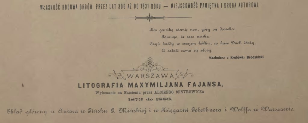 Litografia Maxymiljana Fajans