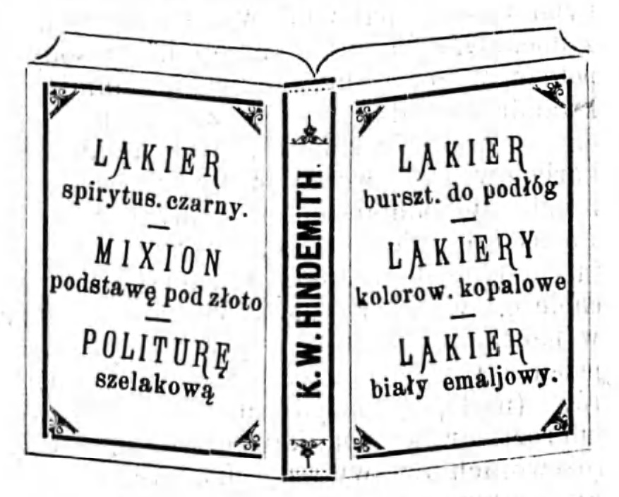 Reklama lakierów Gazeta Kaliska 1893