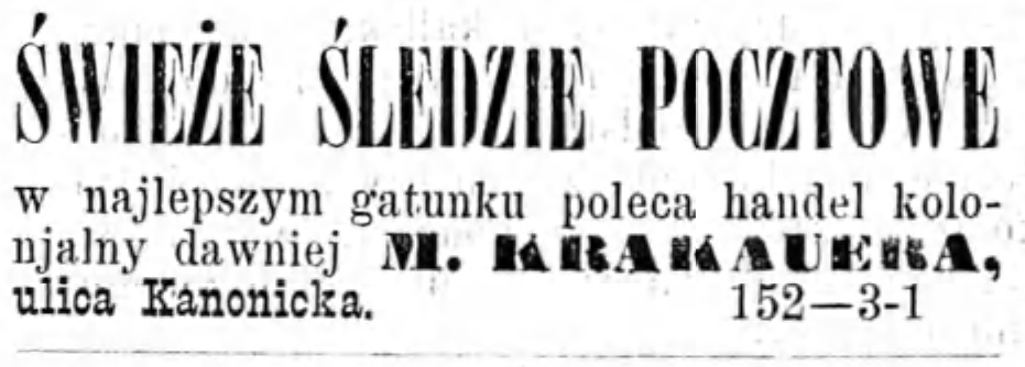Reklama Gazeta Kaliska 1893